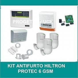 Kit Antifurto Casa Allarme CIA HILTRON PROTEC6 GSMP Pir Combinatore GSM Sirena