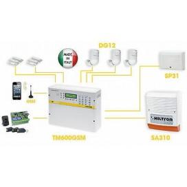 KIT ANTIFURTO ALLARME CASA CON CENTRALE SERIE TM GSM INCORPORATO + ACCESSSORI
