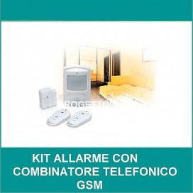 KIT ALLARME SENZA FILI con COMBINATORE TELEFONICO GSM AVIDSEN 100108