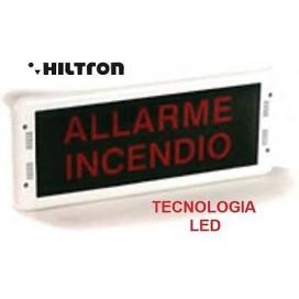 Segnalatore di allarme HILTRON Pannello Ottico-Acustico monofacciale in ABS LED