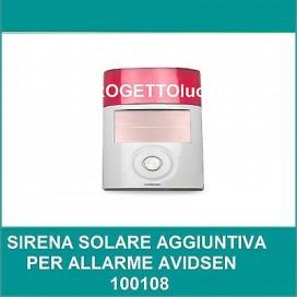 Avidsen 100113 Sirena solare aggiuntiva per allarme Avidsen 100108