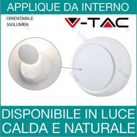 APPLIQUE DA PARETE LAMPADA LED DESIGN MODERNO REGOLABILE ALLUMINIO