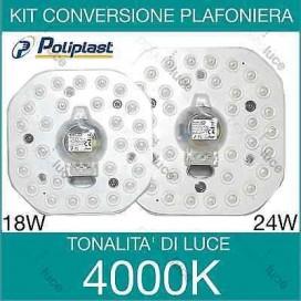 KIT CONVERSIONE PANNELLO LED PLAFONIERA SMALL LAMPADA LUCE NEON SMD CALAMITATO W