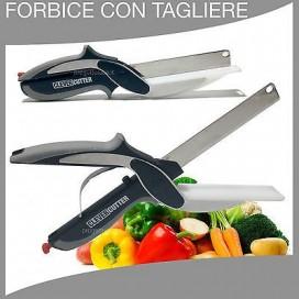 FORBICE CON TAGLIERE CLEVER CUTTER COLTELLO FORBICI TAGLIA FRUTTA VERDURA