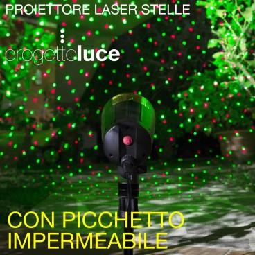 Luci laser natalizie per proiezioni all 39 aperto - Luci led esterno giardino ...