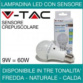V-TAC | LAMPADINA A LED CON SENSORE CREPUSCOLARE INTERNO
