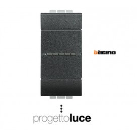 BTICINO L4054 INVERTITORE ASSIALE 1P 16AX 250V ANTRACITE LIVING LIGHT