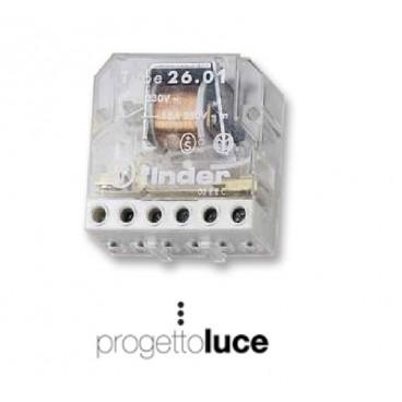 Schema Elettrico Relè Interruttore : Finder rele interruttore ad impulsi v progetto luce