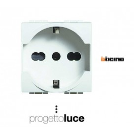 BTICINO N4140/16 PRESA SCHUKO LIVINGLIGHT BIANCA