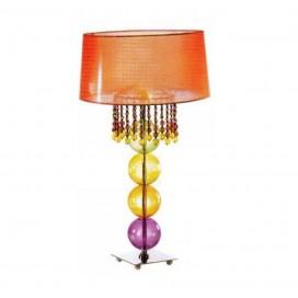 Lampada da tavolo Il Paralumemarina 1215 vetro/tessuto multicolor