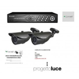 Kit Videosorveglianza AHKIT040C Comelit DVR 100 IPS E Due Telecamere