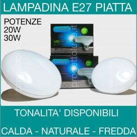 WISDOM | LAMPADINA LED E27 PIATTA DISCO 20W 30W