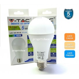 V-TAC LAMPADINA BULB LED E27 15W GOCCIA A65 CHIP SAMSUNG GARANZIA 5 ANNI