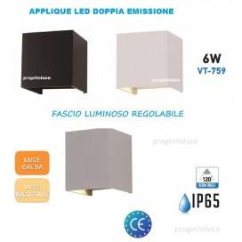 V-TAC APPLIQUE LAMPADA FARETTO LED IP65