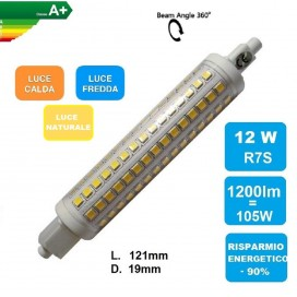LAMPADINA LED R7S 12W LED 2835 360°