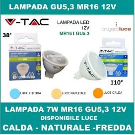 V-TAC LAMPADINE LED GU5.3 MR16 da 7W