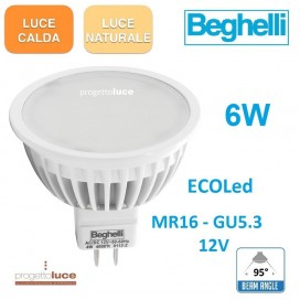 BEGHELLI LAMPADINE LED GU5.3 MR16 da 6W 12V