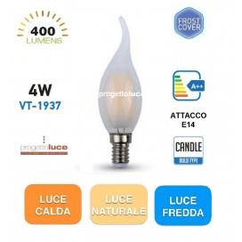 V-TAC VT-1937 LAMPADINA LED E14 4W FIAMMA FILAMENTO SMERIGLIATO