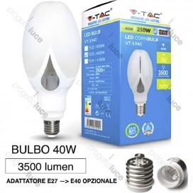 V-TAC LAMPADA LAMPADINA LED E27 40W PER LAMPIONI