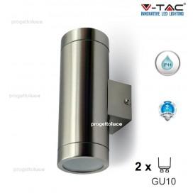 LAMPADA DA MURO APPLIQUE GU10 ACCIAIO INOX IP44