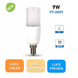 V-TAC VT-2009 lampadina led E14 Tubolare 9w T37
